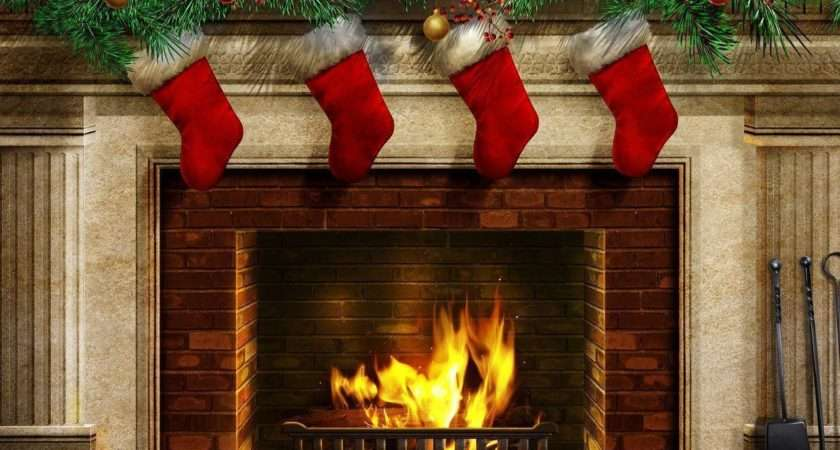 Christmas Fireplace Cave