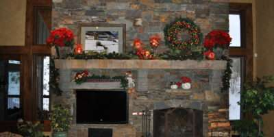 Christmas Fireplace Mantel Celebrating Style Home Blog Entertain