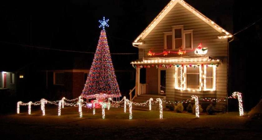 Christmas Lights House Interior Design Ideas Style Homes Rooms