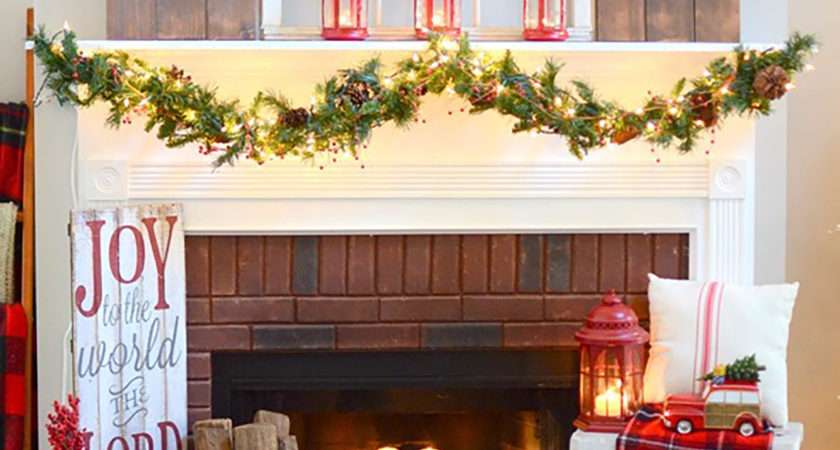 Christmas Mantel Decorations Ideas Holiday
