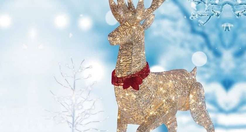 Christmas Outdoor Decoration Pre Lit Reindeer Stag Led