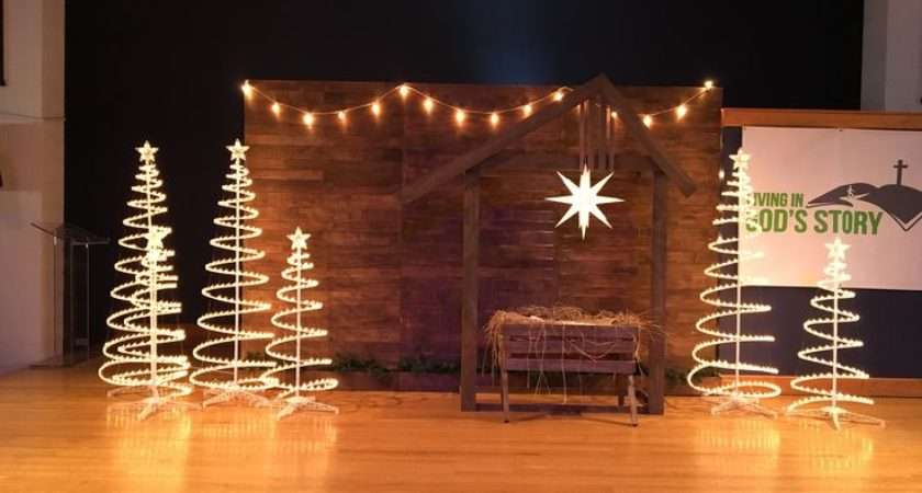 Christmas Stage Decorations Church Indiepedia