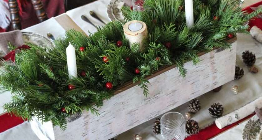 Christmas Table Centrepiece One Item Challenge Fynes