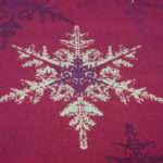 Christmas Tablecloth Red Gold Purple Show Flakes Dreamzzzzz