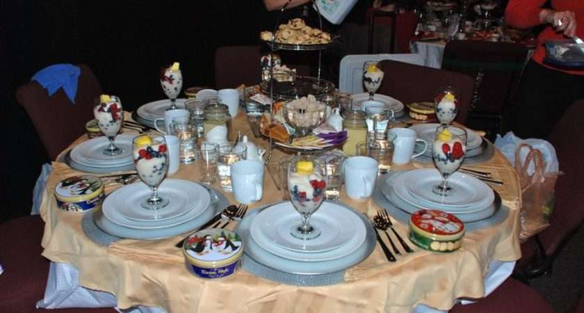 Christmas Tea Party Table Decorations Photograph Ide