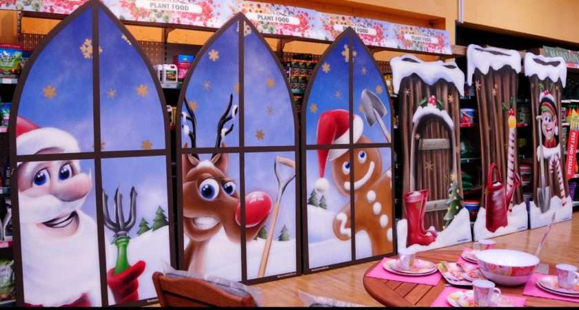 Christmas Window Panting Hand Painted Murals Please Call