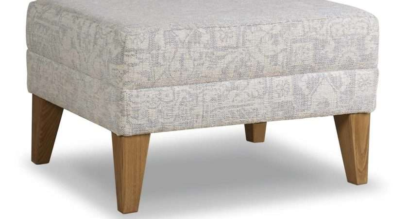 Cintique Lydia Footstool Available Fabric Leather