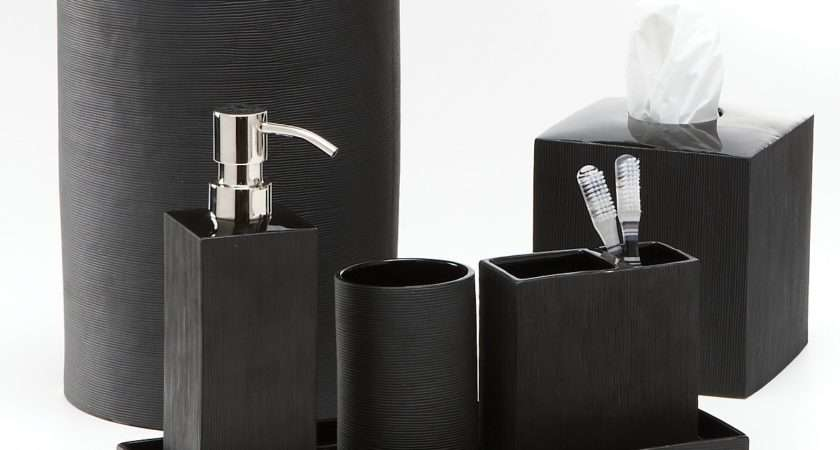 Classic Look White Black Bathroom Accessories