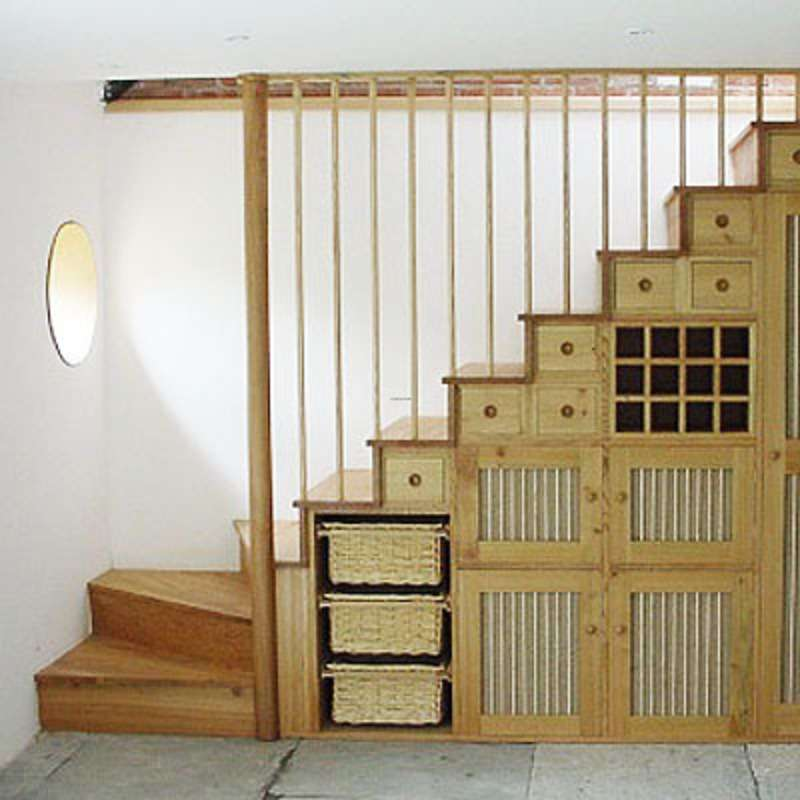 Classic Under Stair Storage Nice Small Room Ideas