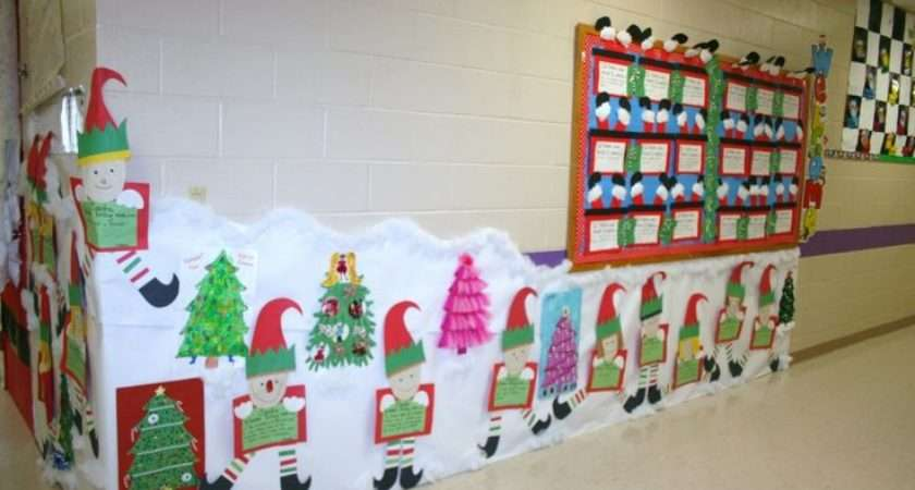 Classroom Christmas Hallway Decoration Crafts Pinterest