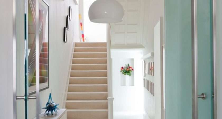 Clean White Hallway Modern Housetohome