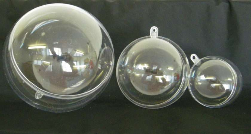 Clear Plastic Part Christmas Baubles Small Medium Large