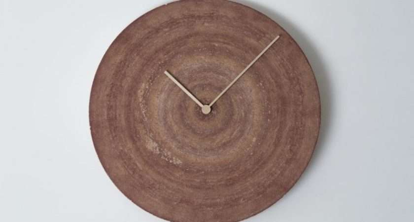 Clever Clock Design Using Word Sanding Disk Terloops Home