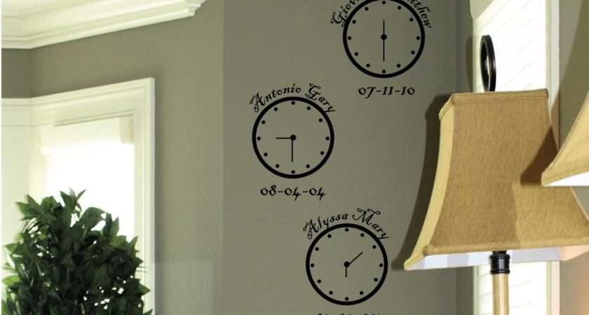 Clocks Wall Decals Trading Phrases