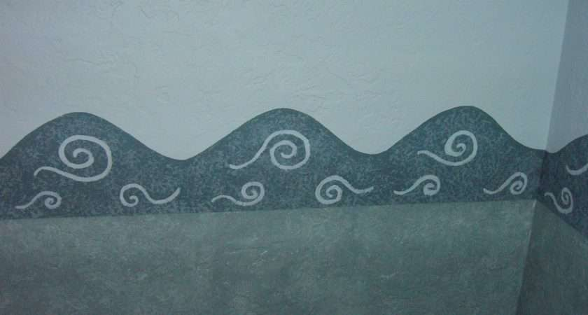 Close Hand Painted Wave Border