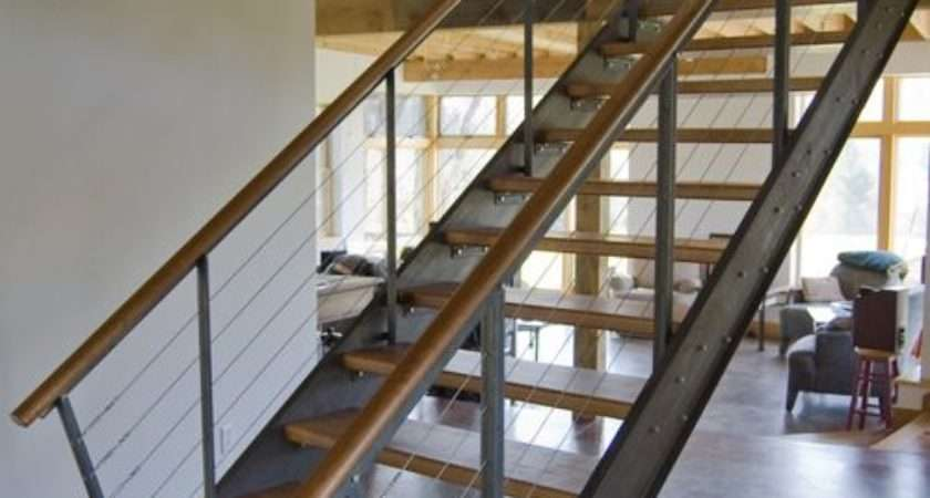 Closed Stringer Stair Home Design Ideas Remodel