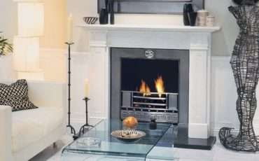 Coal Effect Gas Fire Marble Surround