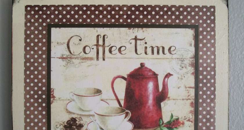 Coffee Country French Shabby Cottage Chic Wall Decor Ebay
