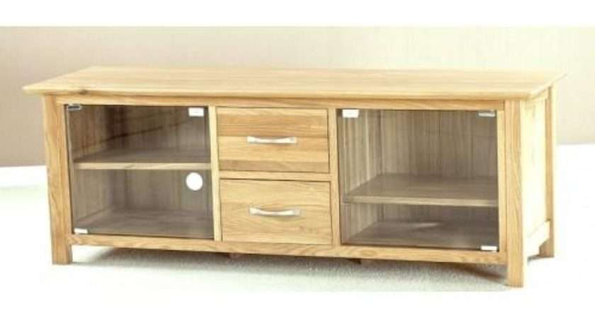 Collection Oak Stands Glass Doors
