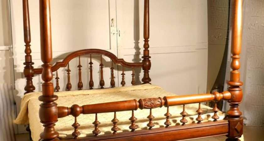 Colonial Raj Four Poster Bed Anglo Indian Carved