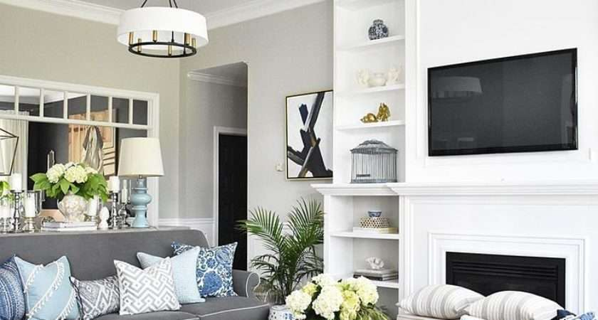 Color Furniture Goes Grey Walls Gray White