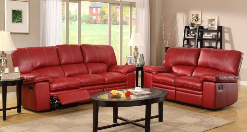 Color Walls Red Leather Sofa Savae