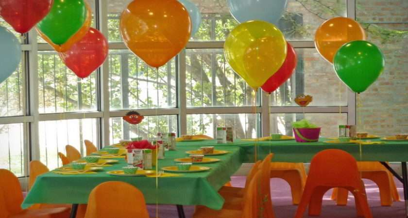 Colorful House Kids Birthday Party Decorating Ideas