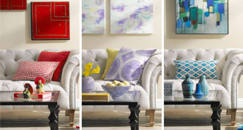 Colorful Living Room Decorating Idea One Three