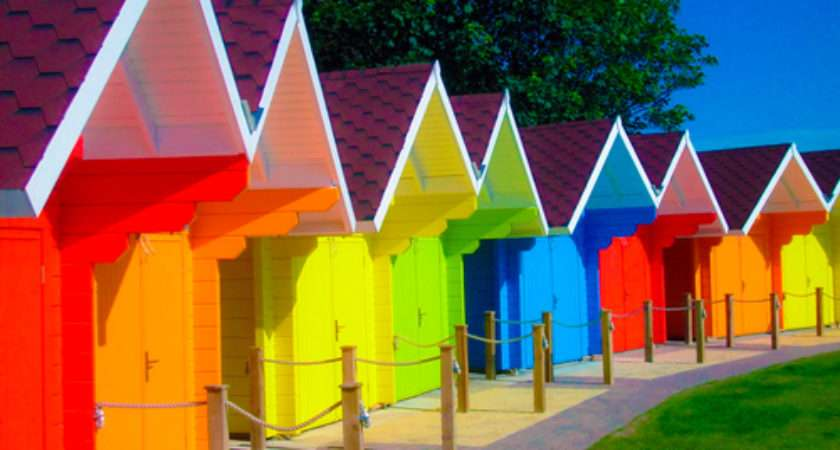 Colorful White Houses