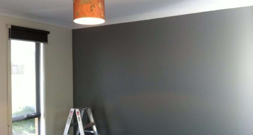 Colour Green Grey Rooms Pinterest Feature Wall