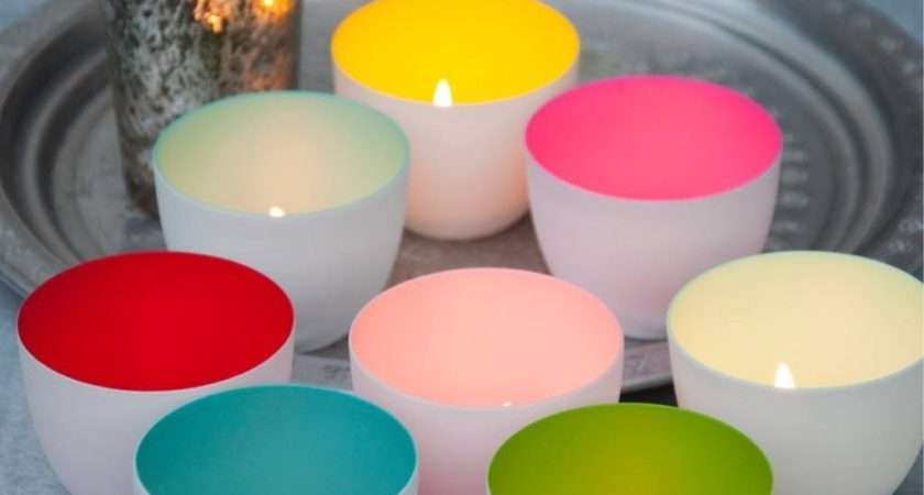 Colour Pop Tealight Holder Set Love Retro
