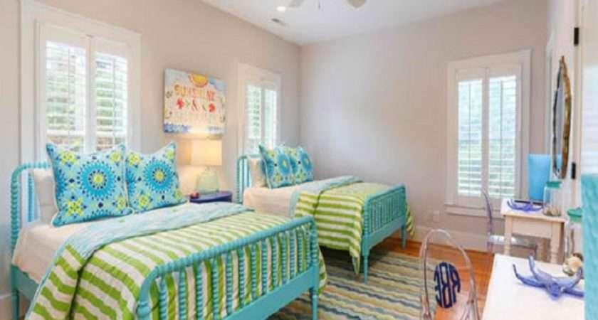 Colourful Bedroom Ideas Lime Green Blue