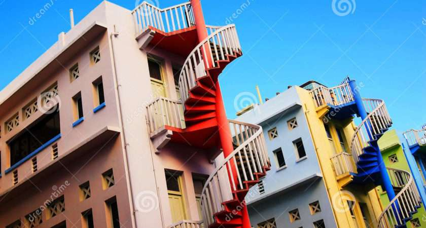 Colourful Building Lines Spiral