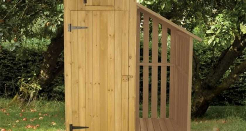 Colourful Garden Tool Sheds Attached Log Store Patio