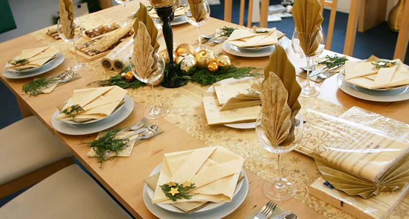 Combined Colors Cream Gold Our Decorated Table