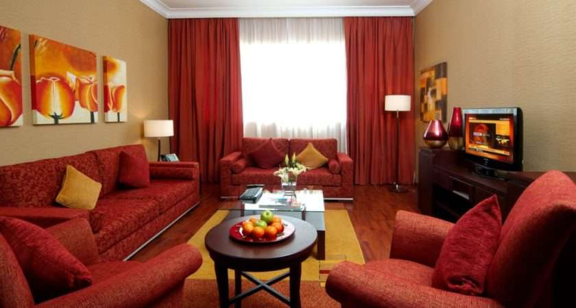 Comfortable Living Room Decorating Ideas Red Sofa
