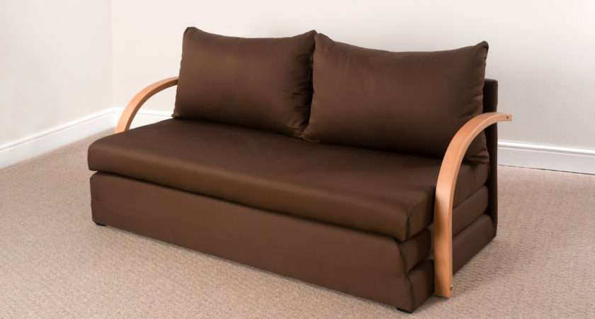 Comfy Living Fold Out Double Foam Sofa Bed Chloe