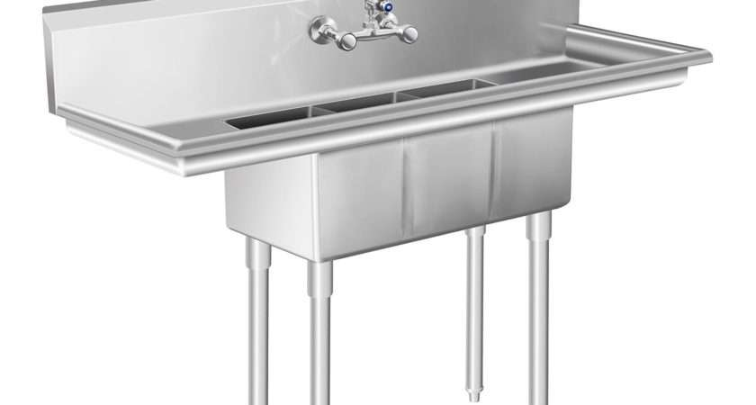 Commercial Sink Large Kitchen Unit Basin Stainless