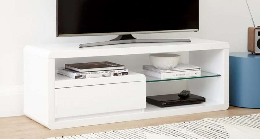 Compact White Gloss Table High Unit