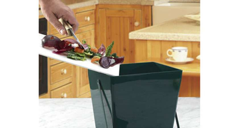 Compost Caddy Stores Kitchen Waste Composting