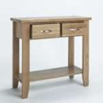 Compton Solid Oak Furniture Small Hallway Console Hall