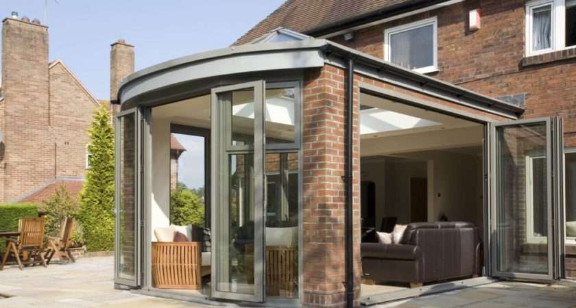 Conservatory Extensions Modern Glass Kitchen Apropos