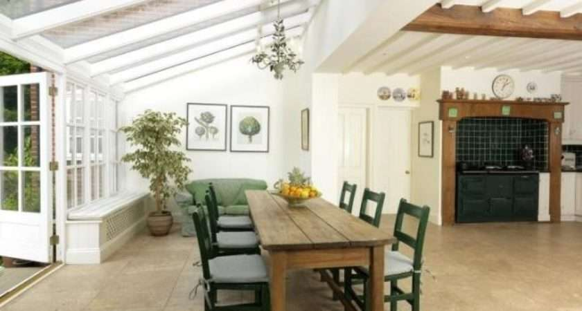 Conservatory Kitchen Extension Chandelier Aga Country