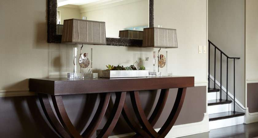 Console Table Decorating Ideas Hall Contemporary Design