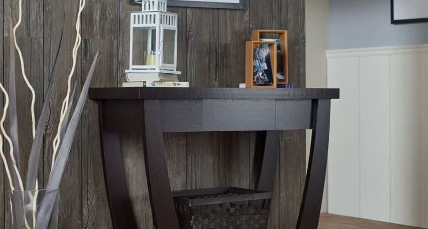 Console Table Entryway Modern Black Narrow Storage