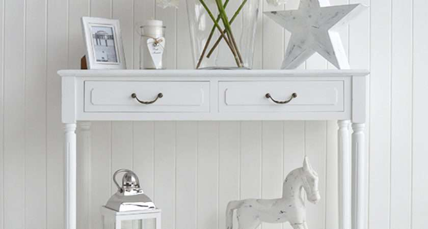 Console Table White Provence Lighthouse