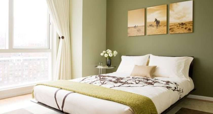 Contemporary Bedroom Floral Pattern Green Color