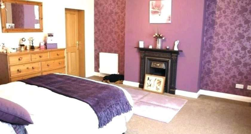 Contemporary Bedroom Has Subtle Beige Purple