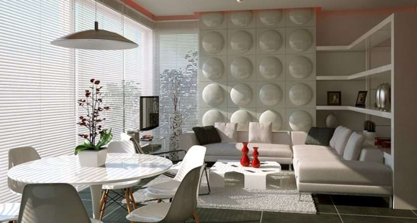 Contemporary Feature Wall Treatment Interior Design Ideas