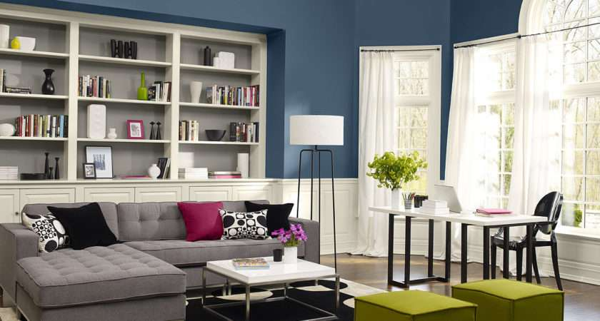 Contemporary Living Room Paint Colors Home Combo